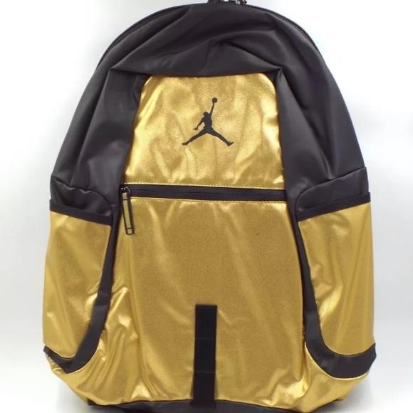 gold jordan backpack ea2af7db0e